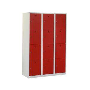 Locker (helmkast) 15 deuren h180xb120xd50cm